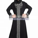 Nida Abaya hand work jilbab Hijab Front Open Dubai Style muslim dress kaftan islamic long dress