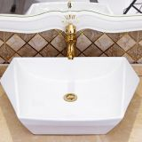 Good Selling bathroom new special tabletop white cabinet wash hand no hole basin sink with competitive price