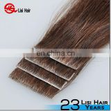 2014 Best Selling Fashion Human Hair Best Quality Super Tape Cuticle Remy Skin Weft Seamless Hair Extensions