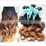 dropshipping supplier brazilian human hair extension sew in human hair weave bundles body wave two tone ombre hair cheapest