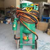 Dry mobile sand blaster,Can spray stone and large pipe inner wall