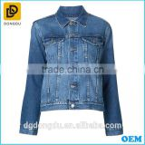 2016 wholesale top selling women denim jacket,fashion lady jacket