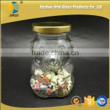 250ml clear bear shape glass candy jar