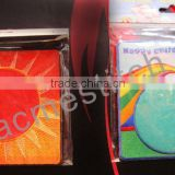 New arrival cup mat / embroidered satin cup mat/coaster for decoration & gifts or home and office use