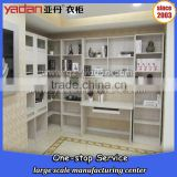 White wood panel coner bookcase /book shelf with computer desk tailor-made K/D furniture