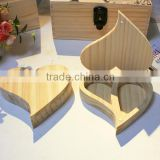 heart shape wooden jewelry gift box for gift packing                                                                                                         Supplier's Choice