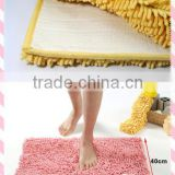 China manufacture home textile big chenille mat anti-slip strong absorption pvc back floor mat wholesale