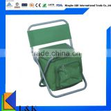 portable lightweight folding fishing chair with cooler bag/outdoor cooler bag camping chair
