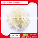 China hair barrettes factory wedding white hair flower pin clip