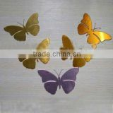 2012 Acrylic butterfly shape Mirror sticker wall decoration                                                                         Quality Choice