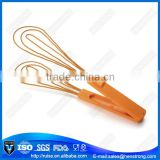 Double head manual egg beater,egg whisk with colorful PS handle