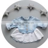 2016 high quality denim jacket girls dresses girls baby girls party birthday dresses