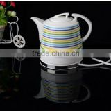 porcelain stripe design teapot