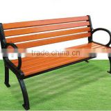 Cheap Price Garden Patio Park Wood Long Bench Chair With Metal Frame