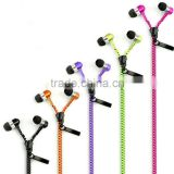 Metal Glow Zipper Earphone Headphones with 3.5mm Connector Stereo Bass In-Ear Wired Ear Phones Headset for iphone