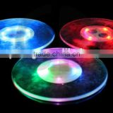 LED Coaster Color Light Up Drink Cup Mat Tableware Glow Bar Club Party