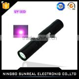 Aluminum Alloy Dry Battery Colorful 390nm-400nm UV Led Lamp Led Flashlights