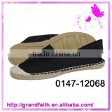 Customized box design canvas shoes rubber sole