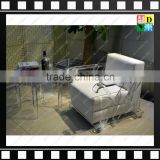 2016 New Modern Transparent/clear Acrylic /plexiglass/ PMMA coffee chairs With Cushion/Wood in Living Room For home/hotel/office