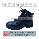 waterproof leather upper steel toe cap safety boots safety shoes 9034