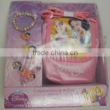 OEM-5PCS PRINCESS HAIR ACCESSORIES SET(BRACELET, RING, PONYTAIL HOLDER,BAG)