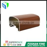 Wholesale alibaba electrophoretic and Fluorocarbon wood grain wardrobe aluminium profile