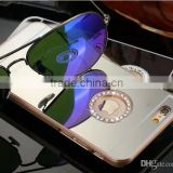 Glitter Mirror PC Hard Back Cover Bling Diamond Case Cover For Apple iPhone6&iPhone6 Plus iPone5s