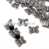 Top Quality 10x13mm Butterfly Style #1 Tibetan Silver Metal Spacer Beads 50pcs per Bag For Jewelry Making Findings