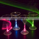 night PUB plastic flashing LED light up cocktail martini glass