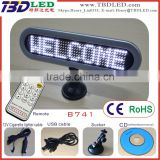 Digital led car message sign with suckers/car message board