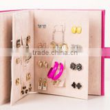 2015 Hot Sales Book Shape Jewelry Storage Display Packaging Box for Earring