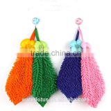 China wholesale microfiber chenille square hand towel, washclotch for home ,kitchen and bathroom