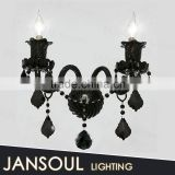 zhongshan retro high quality house lighting 2 lights candle holder balck vintage double wall lamp