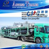 Second hand 2 axles 8 units vehicle transporting used car carrier chaasis/trailer for sale                                                                                         Most Popular