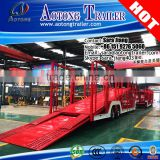 heavy duty car parabolic leaf spring vehicle transportion truck semi trailer (skeleton/close-ended/semi-enclosed type optional)