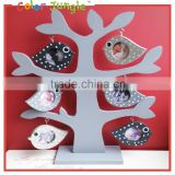 Wood heart tree shape frame photo frame, 6 photoes love picture frame