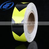 film manufacturer Black with yellow reflective lattice road traffic warning reflective belt tape