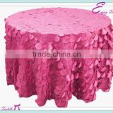 YHT#125 circle petal taffeta polyester banquet wedding wholesale cheap table cloth linen overlay