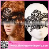 wholesale masquerade mask Black Hollow out Lace Dancing cheap black party mask Halloween Mask