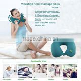 Customer design logo available u-shape neck electric Massage pillow for travel/car/airplane/office/home use