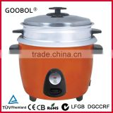 1.8L industrial drum shap rice cooker with outer steamer