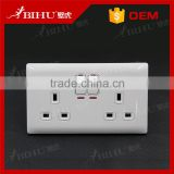 British standard PC material 2 gang 1way wall switches and sockets                                                                         Quality Choice
