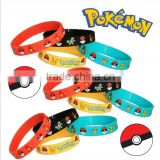 Pokemon Party Supplies Silicone Wristband Bracelet Favors 12 Count rubber band silicon wristband promotional silicon wristband