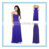 Royal Blue Thin Chiffon Beads Sweetheart Neckline Empire Waist Sexy African Evening Dresses 2015(AC-1009)
