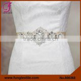 FUNG 800268 Crystal Rhinestone Belt And Pearl Applique Trimming Belt For Wedding Dress                                                                         Quality Choice