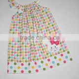 2016 koya bunny pillow case dress toddler dresses pastel houndstooth baby girl kids dress