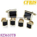 Fashion agate cufflinks and studs sets for wedding
