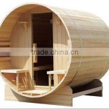 The stylish dry sauna and easy installation Red timber or white pine barrel sauna room for sales