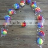 Crochet rainbow beads,handmade balls for babies and decoration