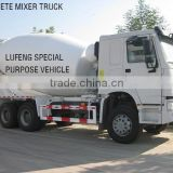 China LUFENG brand SINOTRUK HOWO chassis concrete mixer truck,cement mixer,concrete truck